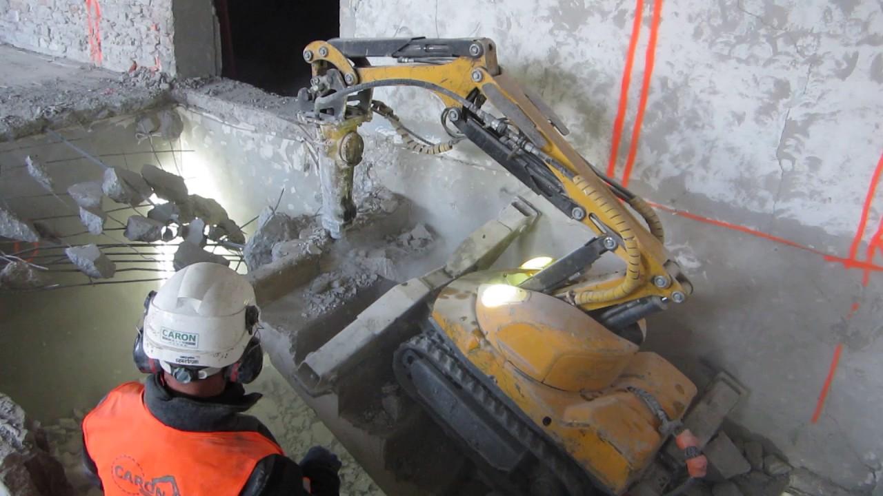 Casser Un Escalier Beton caron demolition démolition escalier béton armé au robot