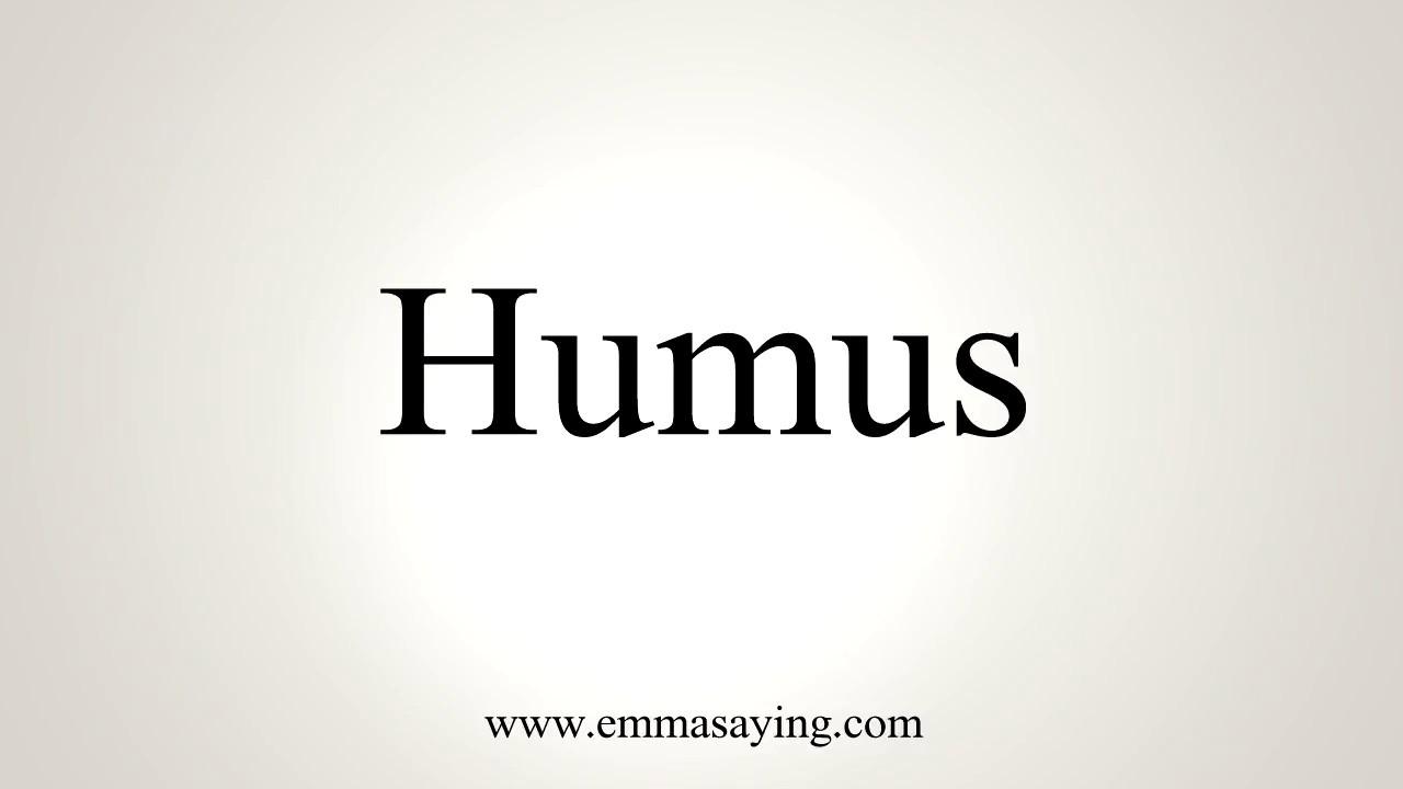 How To Pronounce Humus