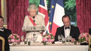 The Queen's speech at the French State Banquet