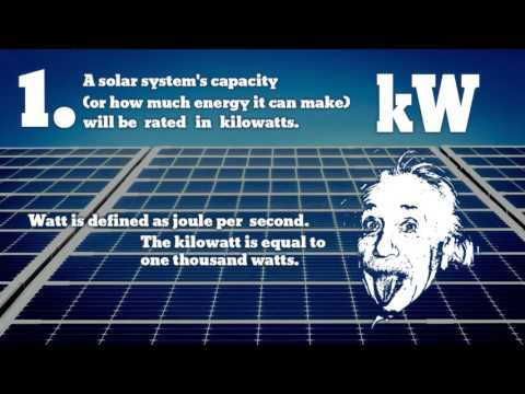 Kilowatts, Kilowatt-Hours and Peak Kilowatts - kW, kWh, kWp