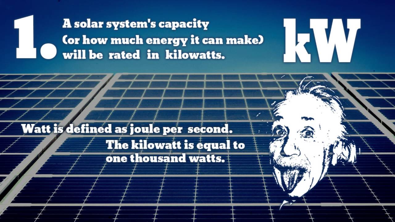 Kilowatts Kilowatt Hours And Peak Kw Kwh Kwp