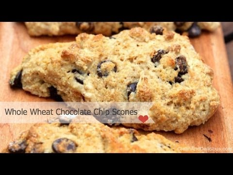 Clean & Delicious Whole Wheat Chocolate Chip Scones
