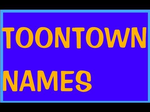 Toontown Names!!! :O