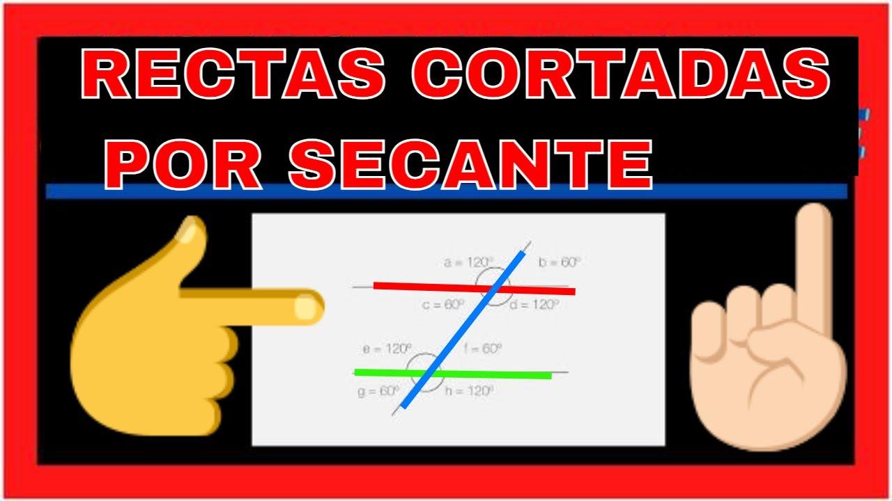 RECTAS PARALELAS CORTADAS POR UNA SECANTE   GEOMETRIA  