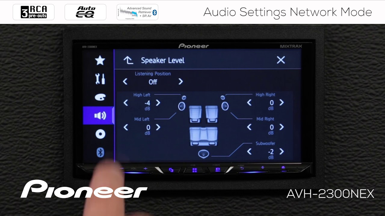 How To - Advanced Audio Settings in Network Mode on Pioneer AVH NEX In Dash  Receivers 2017