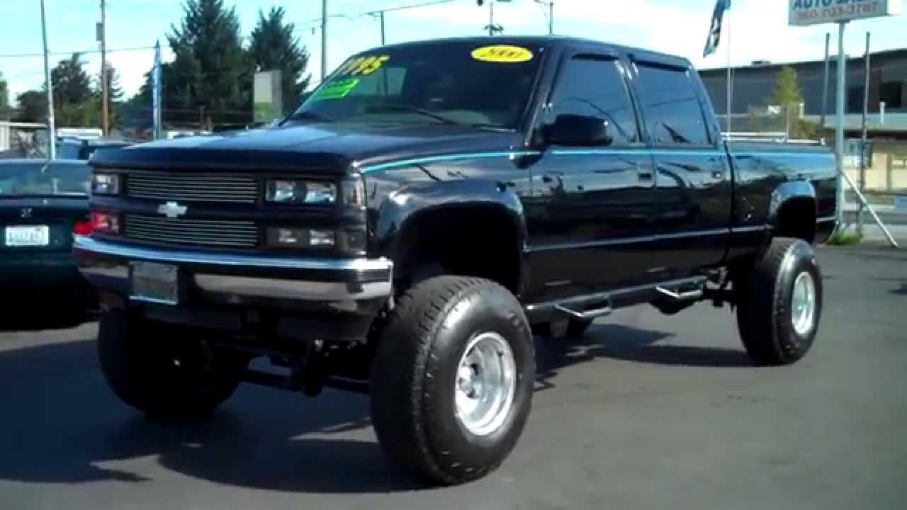 Truck 1998 custom chevy trucks : 2000 CHEVY CREW CAB 4X4 SOLD!! - YouTube