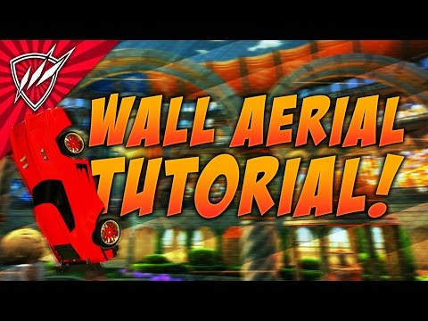 How to WALL AERIAL Rocket League Tutorial | Trainer Pack Shots Included