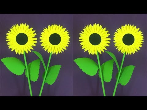 How to Make Paper Sunflower | Making Paper Flowers Step by Step | DIY-Paper Crafts