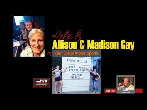 Allison & Madison Gay on Dave Stall's SD Motor Sports/Racer Radio