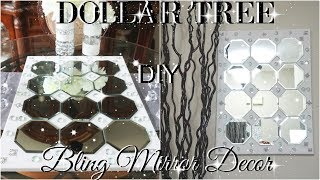 DOLLAR TREE BLING MIRROR DECOR PETALISBLESS 🌹