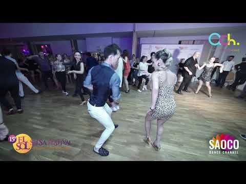 Omar S. H. Chen And Denisse A. Cambria Salsa Dancing At El Sol Warsaw Salsa Festival, Sat 09.11.2019