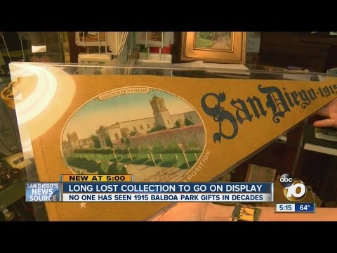 Artifacts from 1915 Panama-California Exposition to go on display