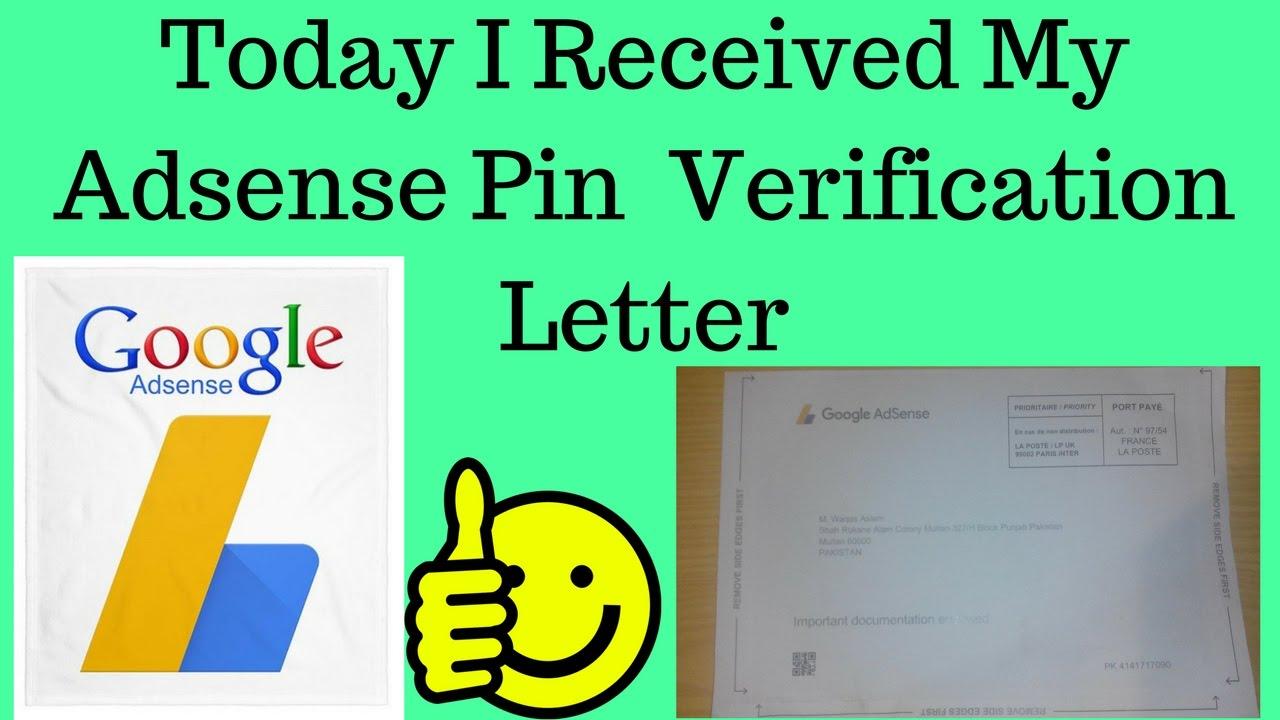 Adsense Address Verification   My Adsense Pin Verification Completed Today