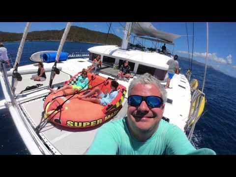 Client Review: Having a Fun Yacht Charter Vacation on 62' Catamaran Foxy Lady  HD 1080p