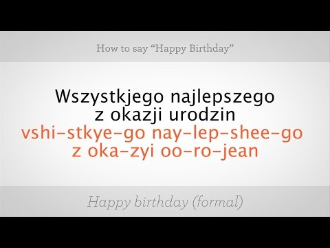 "How to Say ""Happy Birthday"" in Polish 