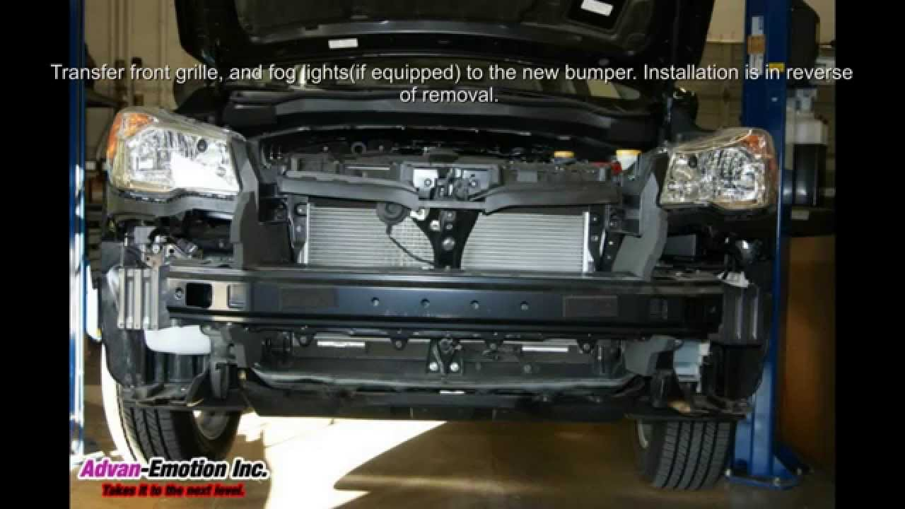 2014 subaru forester xt conversion front bumper kit youtube