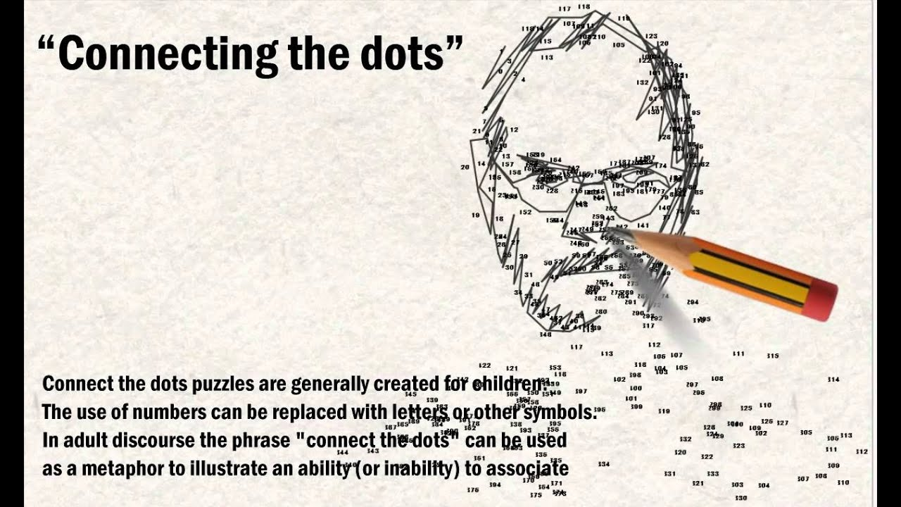 connecting dots essay Intelligence analysis and the connect-the-dots metaphor the problem is that connecting the dots is a bad metaphor this essay previously appeared on cnn.