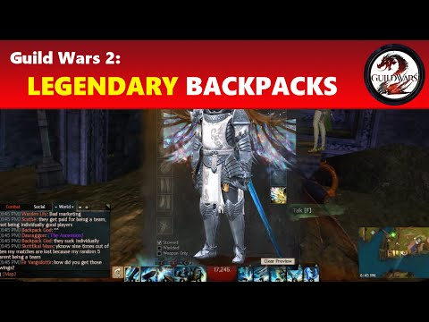 Guild Wars 2: Legendary Backpacks │ The Ascension & Ad Infinitum Guide