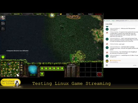 Testing Linux Video Games on Live Stream