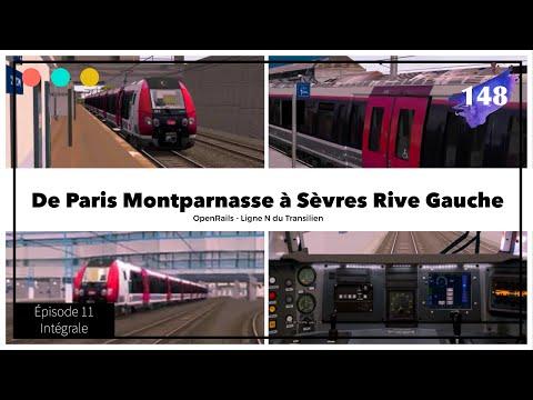 Transilien N - Paris, Sèvres Rive Gauche, Paris [Openrails] Épisode 11 #148