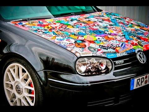 Homemade sticker bomb diy insane car mods youtube