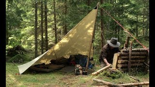 6 DAYS SOLO IN THE WILD - Bushcraft, Wild Camping, Outdoor Cooking, Rain Tarp - LONG VERSION