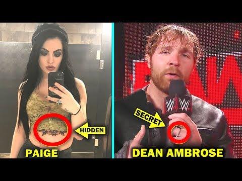 10 Hidden Tattoos of WWE Wrestlers - Dean Ambrose, Paige & more