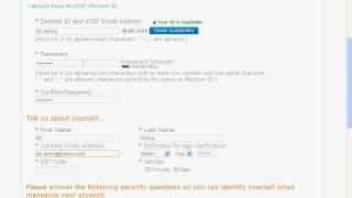 how to make att.net master id