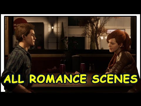 Spider-Man PS4: All Romance Scenes (Peter & MJ)