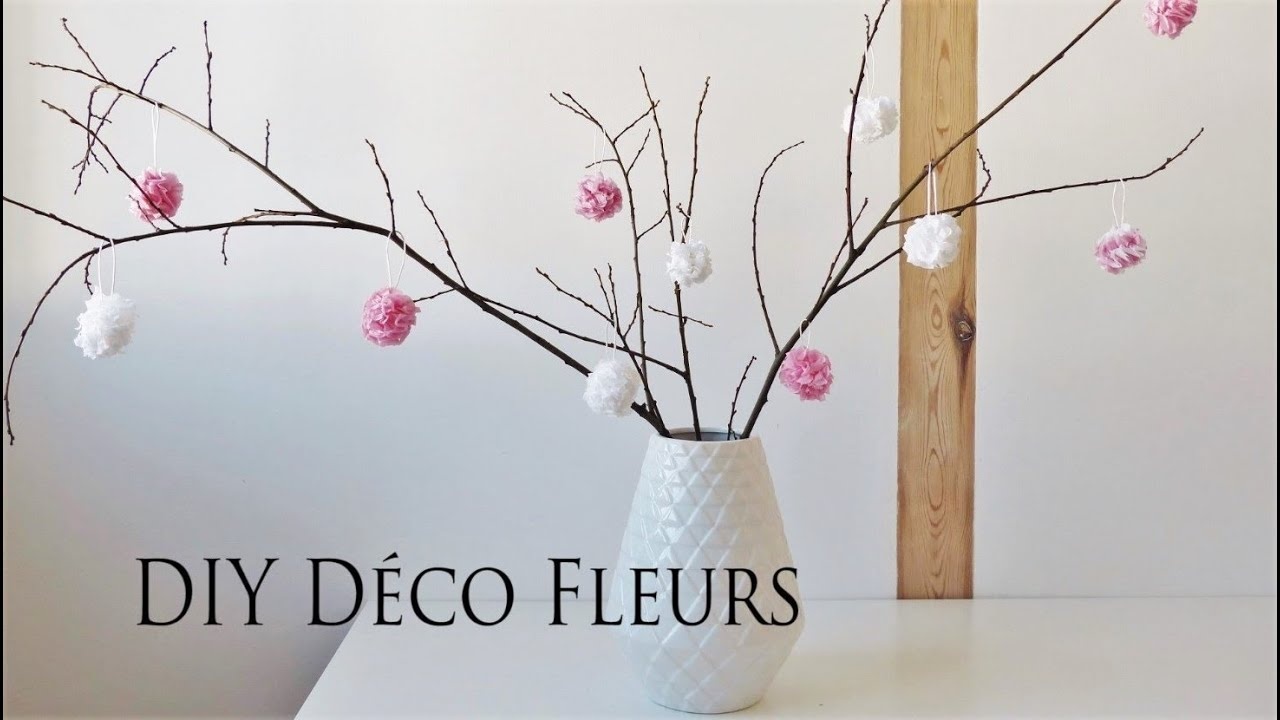 diy d co fleurs en papier youtube. Black Bedroom Furniture Sets. Home Design Ideas