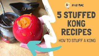 5 Stuffed Kong Recipes: How to Stuff a Kong Dog Toy!