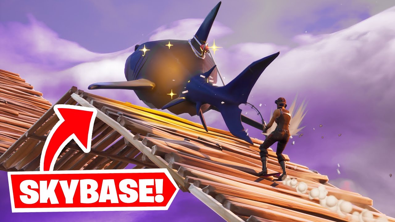 I Skybased with SHARKS in Fortnite...