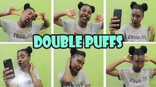 Double Puff Balls On That Short Hair   Extremely Easy