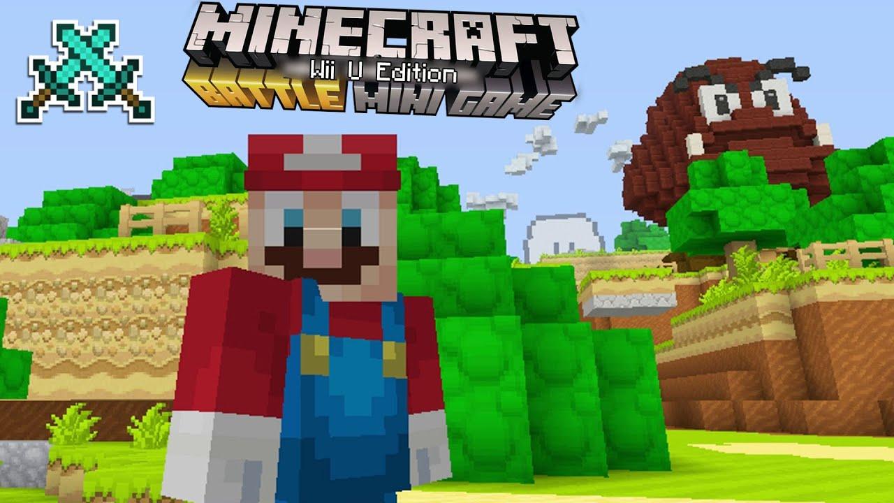 """Minecraft Wii U - BATTLE MODE """"MARIO"""" EDITION SURVIVAL ..."""