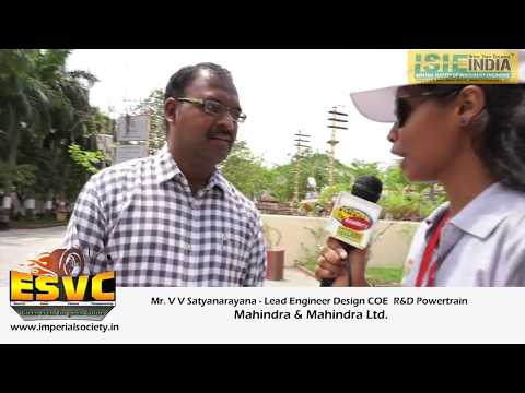 Mr. V V Satyanarayana(Lead Engineer DesignCOE – R&D Powertrain, Mahindra & Mahindra Ltd.) @ ESVC