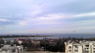 6 марта 2014 г.Севастополь Боевые вертолеты охраняют наше небо. видео-2