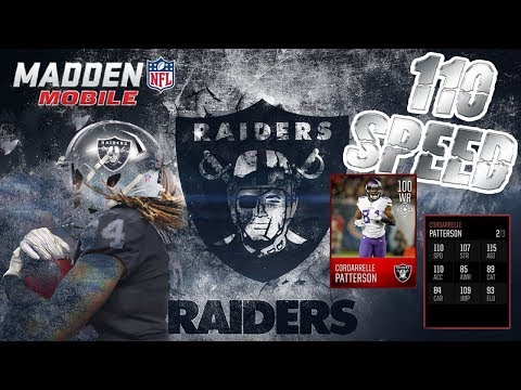 OMG 110 SPEED Cordarrelle Patterson GAMEPLAY!!!-Madden Mobile 18