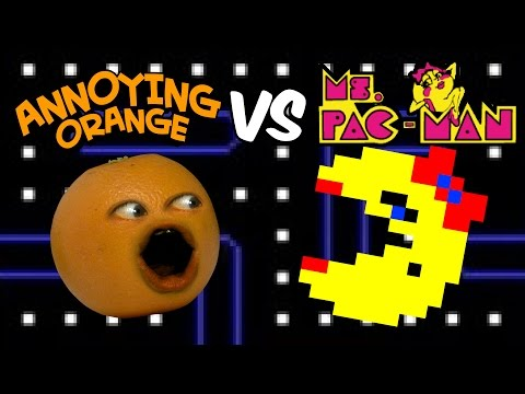 Annoying Orange vs Ms. Pac-Man