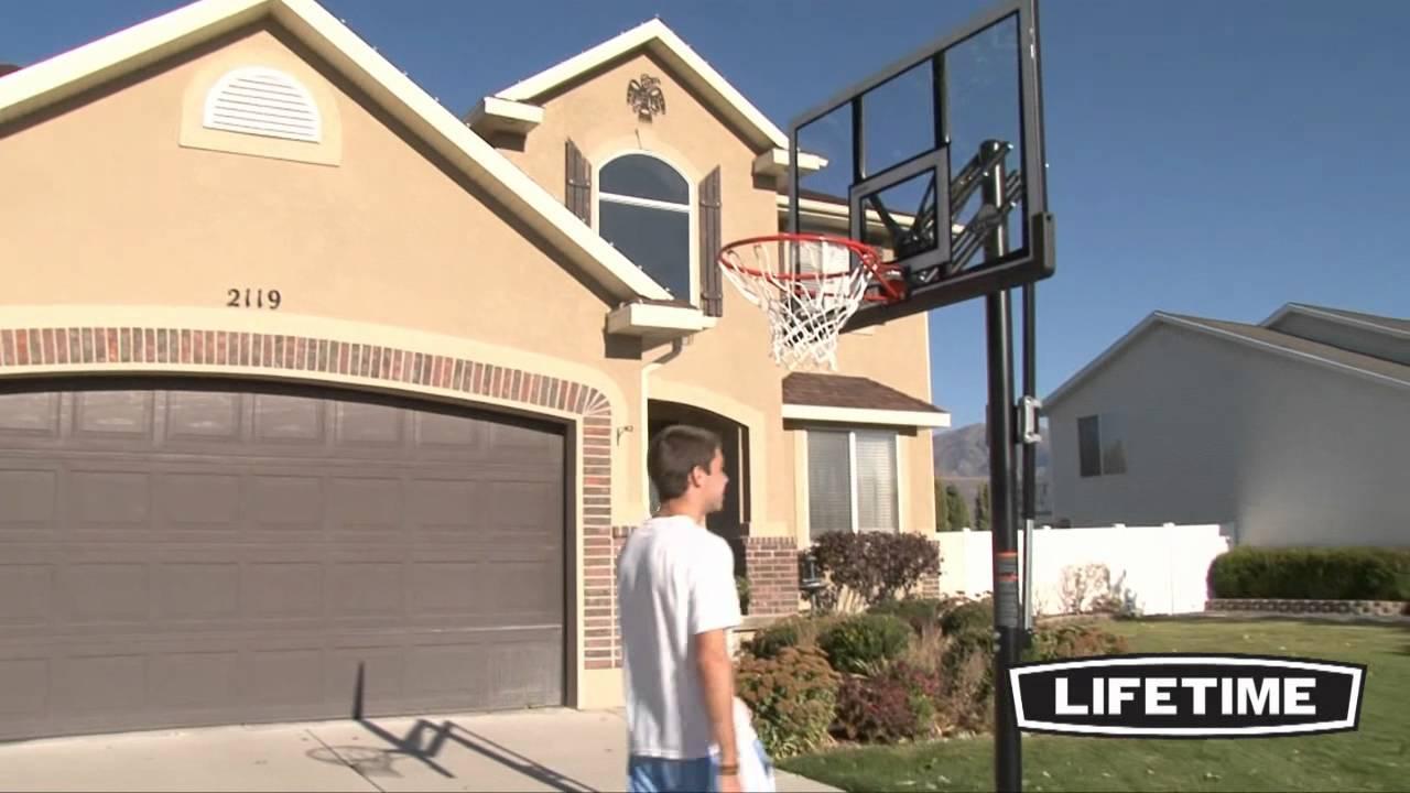 "Lifetime 52"" Portable Basketball Hoop (Model 90061) - YouTube"