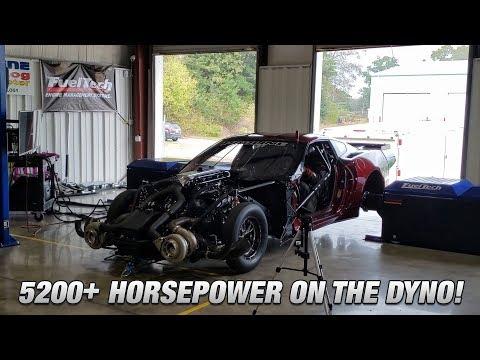 Alepa Proline Racing Hemi Corvette 5235hp on the Dyno!