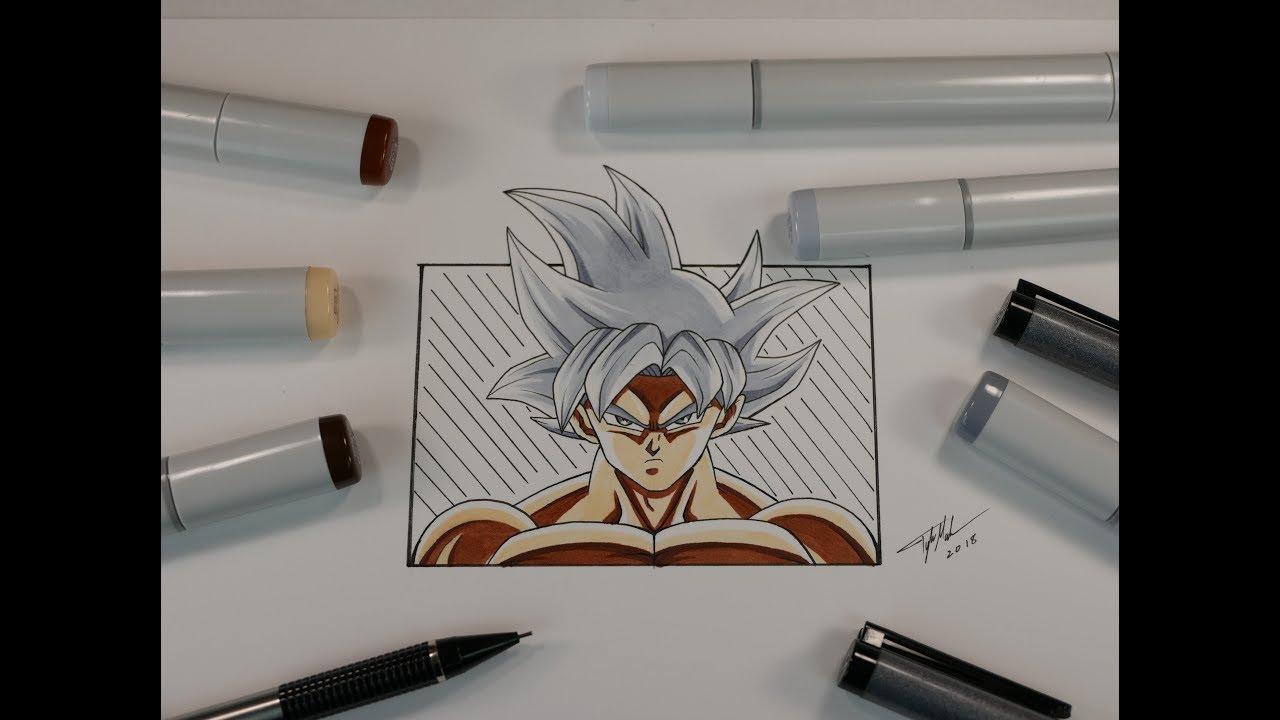 How to draw goku mastered ultra instinct youtube - Goku ultra instinct sketch ...