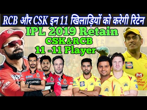 IPL 2019: CSK & RCB Probable Retain Player List || IPL 2019 Auction CSK Team RCB Team