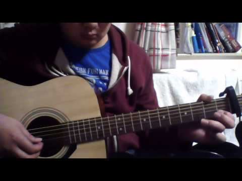 Hooked on a feeling on an acoustic guitar (fingerstyle)