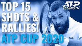 Top 15 Shots & Rallies! | ATP Cup 2020