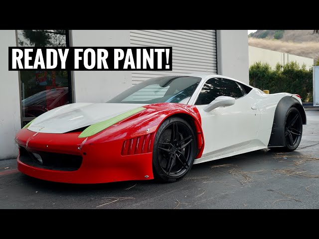 Completed Ferrari GT3 458 Widebody!