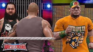 WWE Wrestlemania 32 - John Cena Returns and Save The Rock From Wyatt Family - WWE 2K16