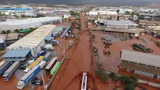 Greece: drone footage reveals aftermath of flooding