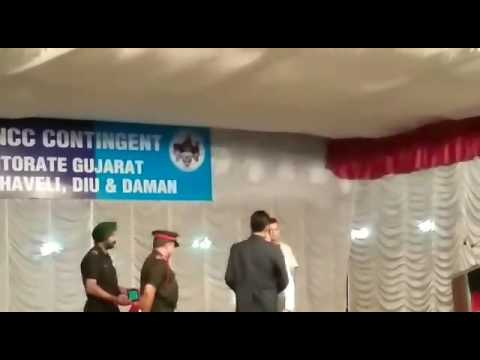 Ncc Bhavnagar 3 Gujarat air cadate Dishant Mehta with honerable Gujarat C.M