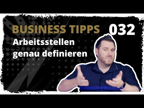 business tipps #032: Arbeitsstellen genau definieren - Wichtig für dich und auch den Mitarbeiter