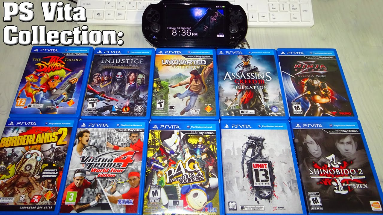 Top 10 PS VITA Games I Own ! - PS Vita Collection 2016 - YouTube
